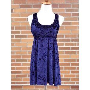 Velour Sleeve-less Dress